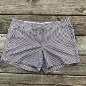 Jcrew pinstripe city fit shorts EUC size 10 cotton